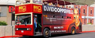 Bus touristique Big Bus à Las Vegas