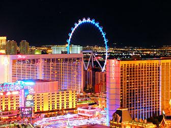 La LINQ High Roller de Las Vegas - La nuit